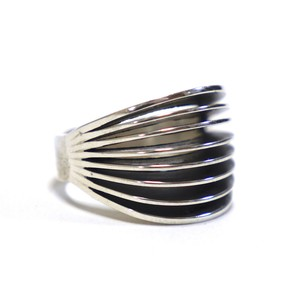 Navajo Sterling Silver 8 Sprit Ring by James Bahe