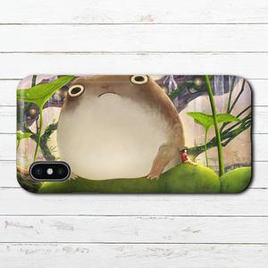 iPhoneケース スマホケース iPhoneXS/X おしゃれ かえる Xperia iPhone5/6/6s/7/8 かわいい カエル ARROWS AQUOS タイトル:蛙の池 作:星宮あき