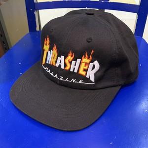 THRASHER : FLAME MAG SNAPBACK CAP /  BLACK