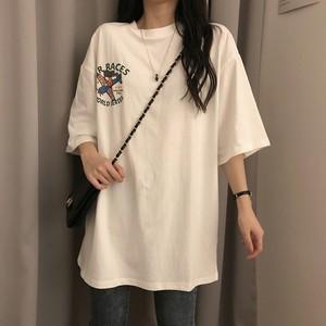 【トップス】原宿風レトロカートゥーンラウンドネックTシャツ27288288