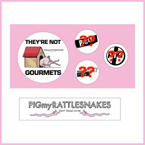 [009] PIGSTY × PIGmyRATTLESNAKES バッジ&ステッカーセット【PIGSTYドネーションアイテム】
