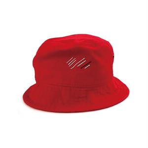 scar ///////  BLOOD BUCKET HAT (Red)