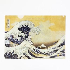 スヌーピー  A4ファイル 神奈川沖浪裏