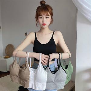 【トップス】韓国系ノースリーブUネックプルオーバーキャミソール30304146