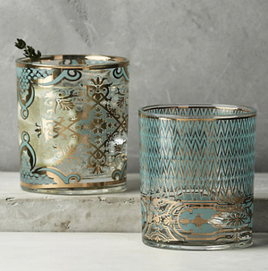 ANTHROPOLOGIE glass blue