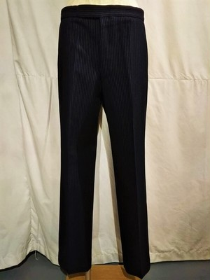 Vintage Burberrys stripe trousers /Made In England [L-218]
