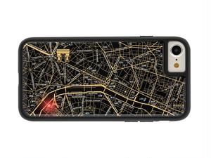 FLASH Paris回路地図 iPhone7/8 ケース 黒 【東京回路線図ピンズをプレゼント】