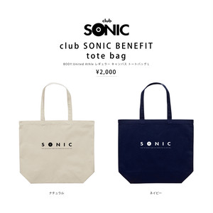 club SONIC BENEFIT tote bag