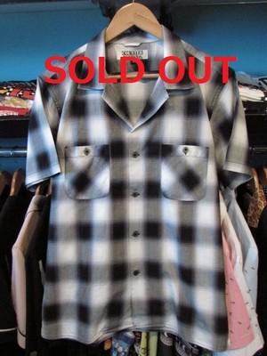 S/Sシャツ オンブレチェック ブラック