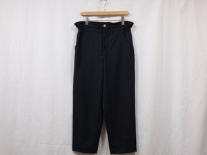 "DIGAWEL""SIDE GATHER TROUSERS NAVY"""