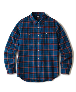 FTC / BRUSHED PLAID SHIRT -BLUE-