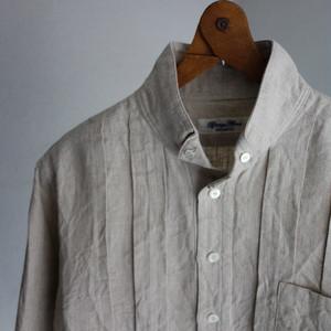 victorians wingcollar b.d. linen shirt / ecru