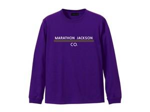 LONG SLEEVE T-SHIRT M319202-PURPLE / ロンT パープル PURPLE  / MARATHON JACKSON マラソン ジャクソン