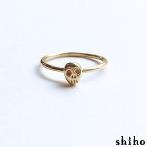 とぼけた表情のスカルリング【skull ring(gd)】