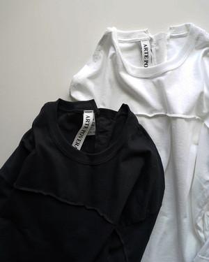 【ARTE POVERA】RE-ギルダン トレーニング8分袖Tシャツ / ブラック