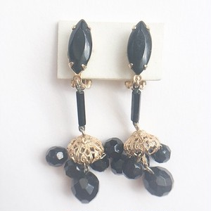 """Lewis Segal"" black chandelier earring[e-942]"