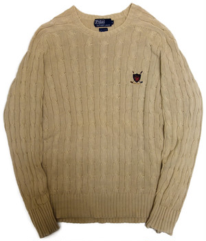 【L】 90s Polo by Ralph Lauren コットンSWEATER