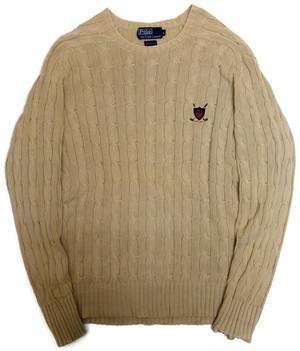 【L】 90s Polo by Ralph Lauren コットンセーター | ラルフローレン ヴィンテージ 古着