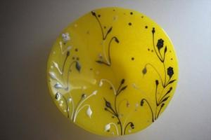 松下高文|見上げる景色 ガラス鉢径210 黄
