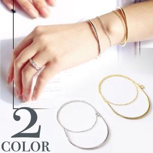 Silver 925 華奢見せ効果 シンプル 2連 ブレスレット シルバー ゴールド バングル チェーン 華奢 上品 華やか レディース プレゼント 760910
