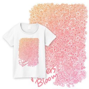 【送料無料】メンズ・レディースサイズ有★花と蔓Tシャツ