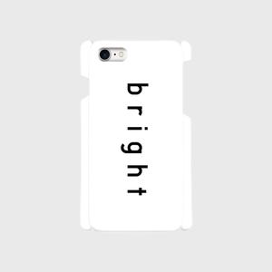 【スマホケース・ツヤ無し 側表面印刷】bright・White × Black