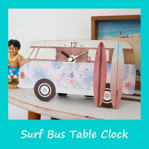 サーフバス テーブルクロック 【2色】