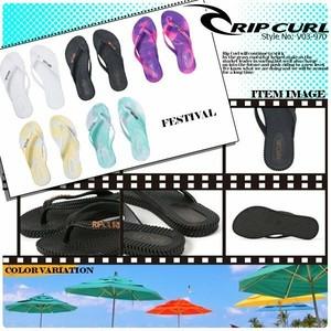V03-970 リップカール サンダル 大人気 サーフブランド レディース 疲れない 履きやすい プール 海 選べる 5COLOR 白 黒 グリーン 黄色 紫 RIP CURL