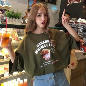 【トップス】ファッションルーズ合わせやすいアルファベットTシャツ27011945
