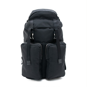 Ballistic Double Pocket Backpack Black LO-STN-BP34