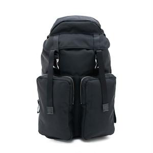 Ballistic Double Pocket Backpack Black LO-STN-BP34