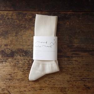 mond organic cotton socks/white