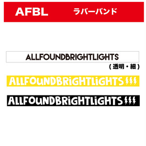 ALL FOUND BRIGHT LIGHTS AFBL ラバーバンド