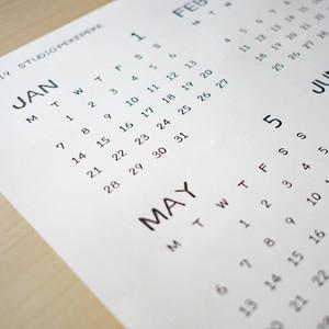 2019年 ペケ文字カレンダー