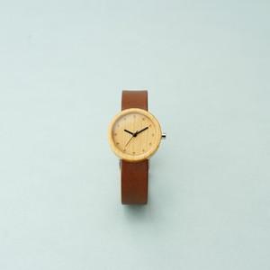 Cherry wood - Organic leather Dark Brown - S