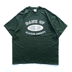 USED Bank of Clarke Country tee - green