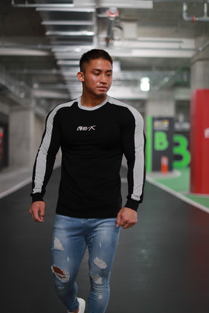 ONE-X LATERAL LINE LONG SLEEVE T-SHIRT BLACK