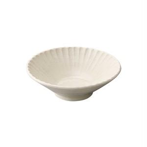 瀬戸焼 伍春窯 そぎ SOGI 反鉢 皿 3.6寸 約11cm 白 127-0405