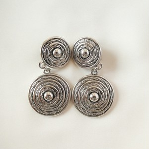 80s ヴィンテージ イヤリング French round motif vintage earrings