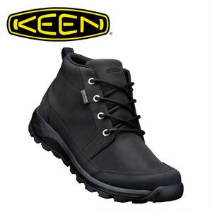 (キーン)KEEN MENS GLIESER CHUKKA NYLON WP BLACK/BLACK グリーザー チャッカ ナイロン 防水ブーツ