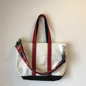 "Middle Strap Tote Strap Tote ""WRB mid"" (White x Red x Black)"