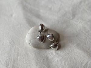 〈vintage silver925〉double triangle earrings