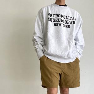 【国内では中々見かけませんがいいんです!】Met Campus Champion Sweatshirt メトロポリタンミュージアム オリジナル チャンピオン リバースウィーブ スウェットシャツ【80045010-grey】