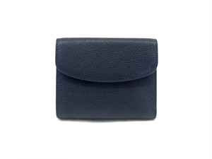 三つ折り財布 M ネイビー,黒