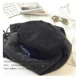 大人気レディースかわいい ウール素材 ベレー帽 秋冬 かぼちゃ型デザイン 黒 nfab058