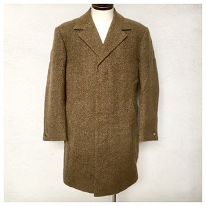 1970s Vintage Tweed Chesterfield Coat Made in England