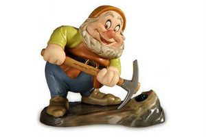 ディズニー フィギュア・白雪姫・ハッピー掘る掘る掘ります wdcc 1232446