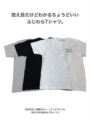 控え目だけどわかるちょうどいいふじわらTシャツ。