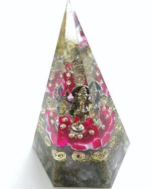 【神仏〜祈り〜ダンシングガネーシャ神六角錘型オルゴナイト】