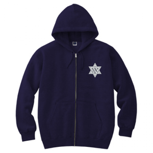ERICH / HEXAGRAM FULL ZIP HOODED SWEATSHIRT NAVY